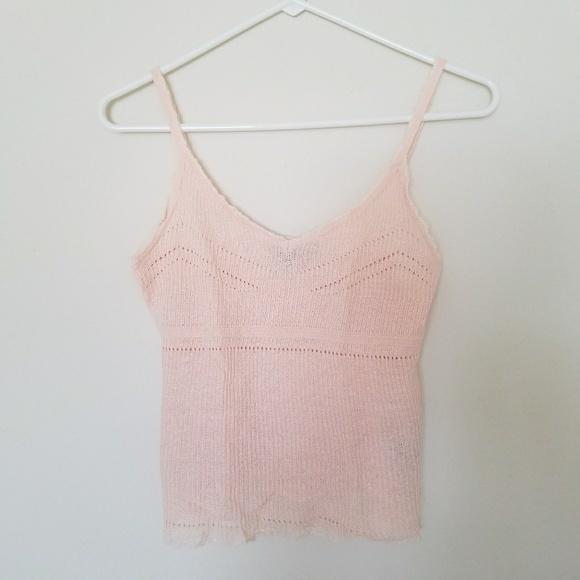 0ebef721d7e2f3 Lauren Ralph Lauren Tops - Ralph Lauren Pink Linen Camisole